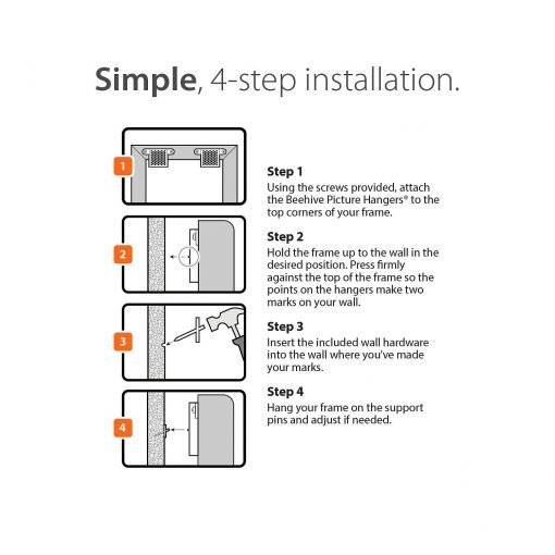 Beehive Picture Hangers installation instructions