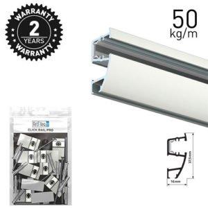 Artiteq Combi Rail Pro Light White 50kg