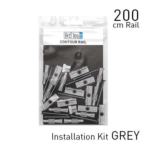 Artiteq Fastener Kit Grey Contour Rail 200cm