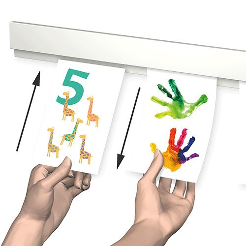 Simple Picture Hanging Info Rail White 50cm functions