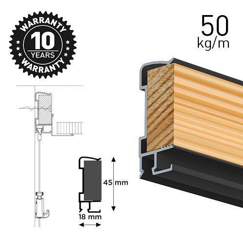 Artiteq Art Strip Black 300cm 50kg(110lbs)/m