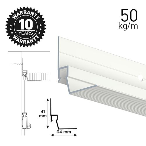 Artiteq Ceiling Strip White 300cm