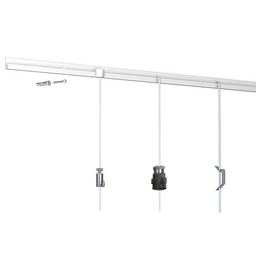 Simple Picture Hanging classic rail white1
