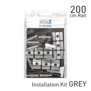 Artiteq Fastener Kit Grey Click Rail
