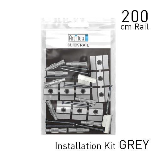 Artiteq Fastener Kit Grey Click Rail