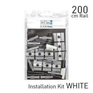 Artiteq Fastener Kit White Click Rail 200cm