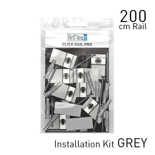 Artiteq Fastener Kit Grey Click Rail Pro 200cm