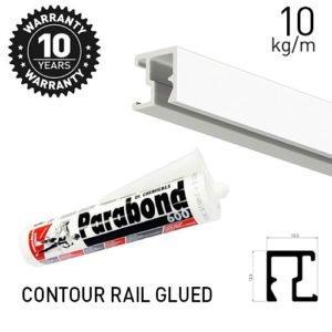 Contour Rail Glued Alu 200cm (No Nail/ Screws)