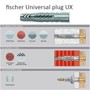 fischer-ux-wall-plug-10pcs
