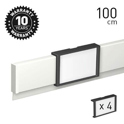 Artiteq Info Rail 'me' White, Silver (Alu) 100cm - 200cm