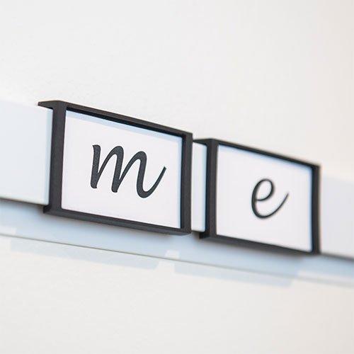 Artiteq Info Rail 'me' White, Silver (Alu)
