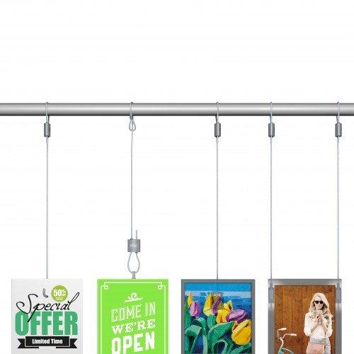 Artiteq Loop Hanger + Steel Cable with Loop Set