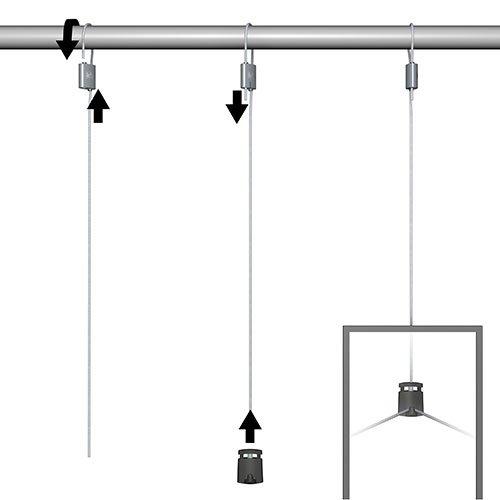 Artiteq Loop Hanger + Steel Cable & Micro Grip Slimline Set