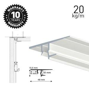 Artiteq Shadowline Drywall White 250cm