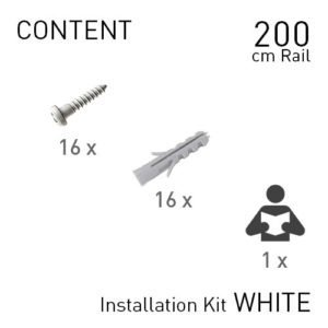 Artiteq Top Rail installation kit white