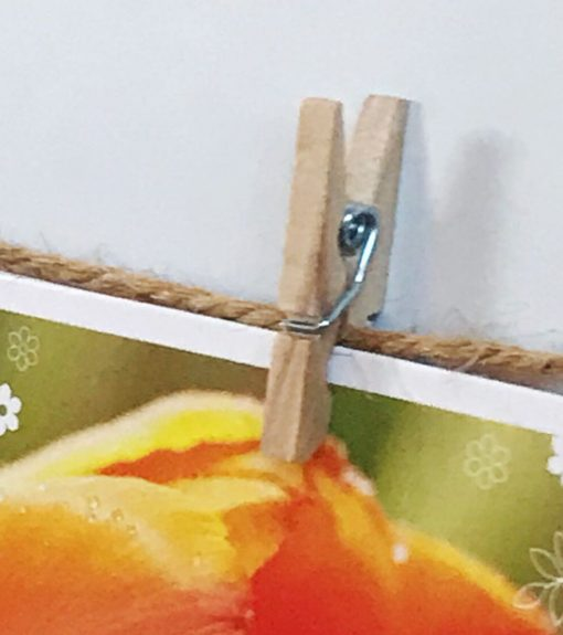 Twine and Clothespin picture display