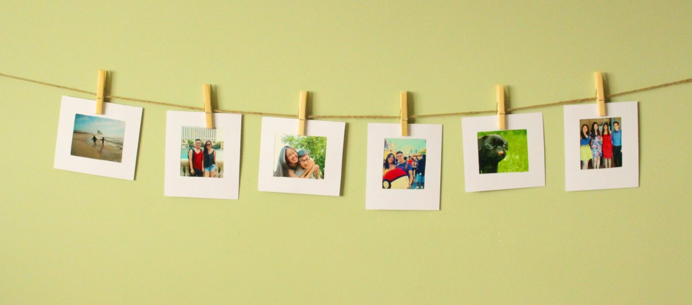 simple picture display twine pegs system