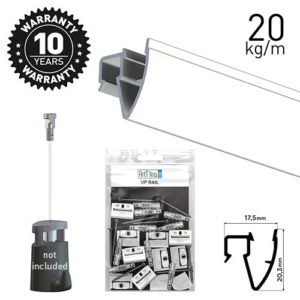 Artiteq Up Rail White Primer 200cm Kit