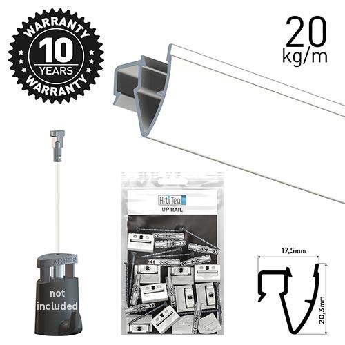 Artiteq Up Rail White Primer 200cm Kit
