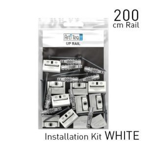 Artiteq Up Rail White Primer 200cm installation Kit