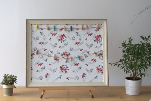 Twine and pegs picture display frame Floral 50x60cm