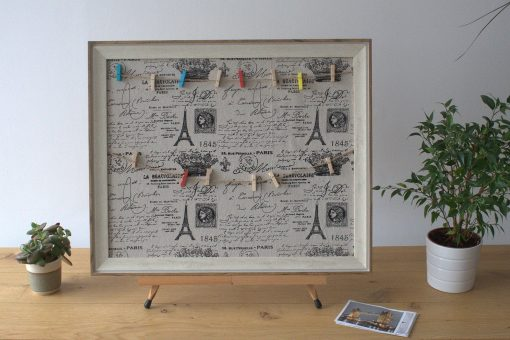 Twine and pegs picture display frame Paris 50x60cm