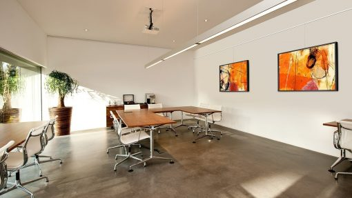 Artiteq Contour rail office picture hanging systems
