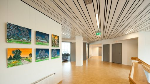 Artiteq Top rail community centre picture hanging systems