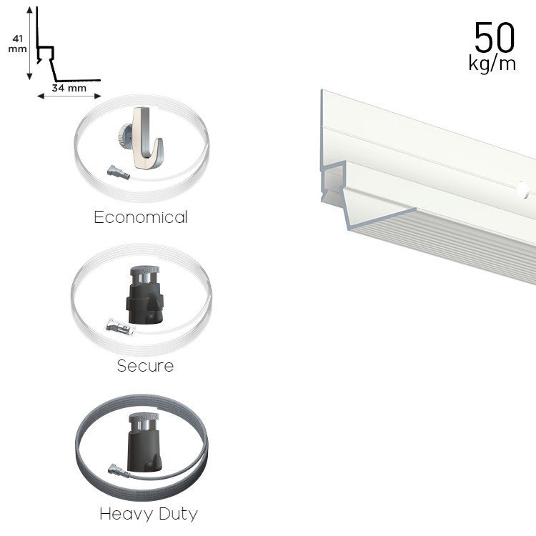 Artiteq All in One Ceiling Strip Package 50kg(110lbs)/m