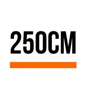 250cm (8 ft, 2 in)