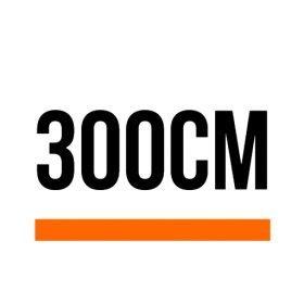 300cm (9 ft, 10 in)