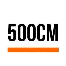 500cm (16 ft, 5 in)
