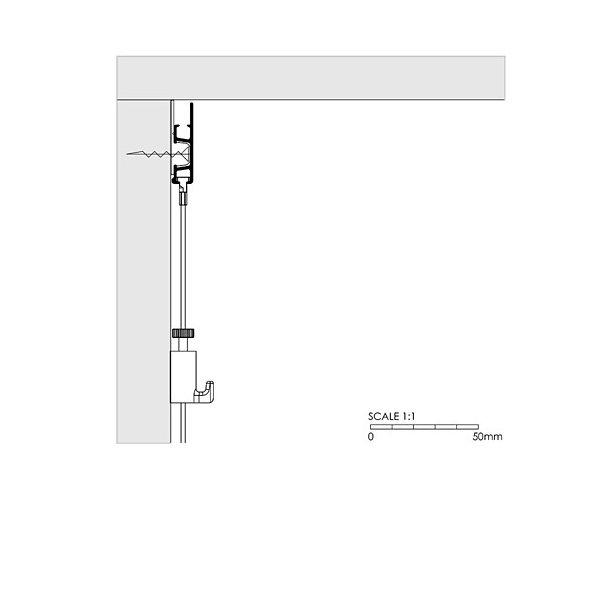 Wall mounted Artiteq Click Rail Pro