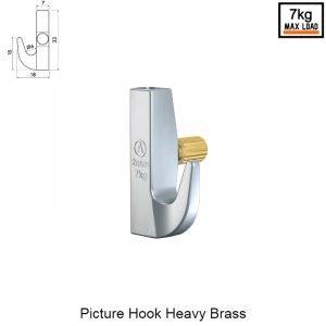 Artiteq picture hook heavy Brass
