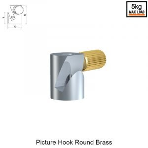 Artiteq picture hook round brass